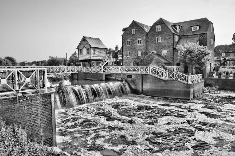Avon Mill Tewkesbury  (Black and white)
