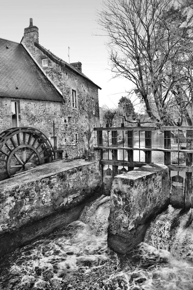 French Mill (portrait b & w)