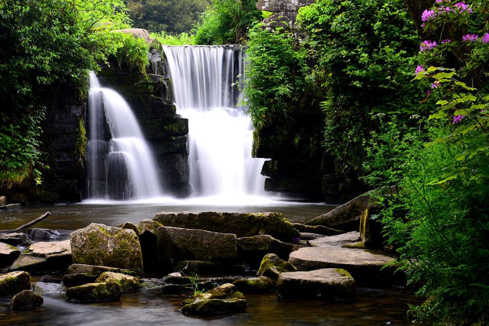 Penllergaer Waterfall (colour)