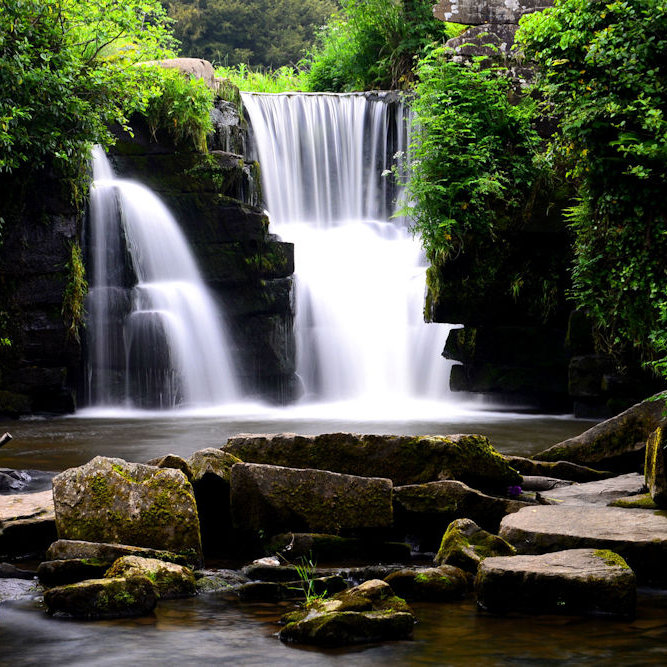 Penllergaer Waterfall (colour)